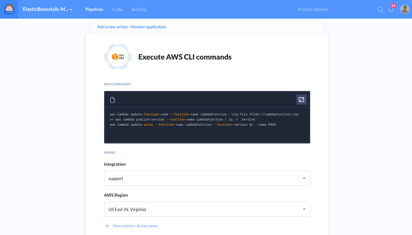 New feature: AWS CLI | Buddy: The DevOps Automation Platform