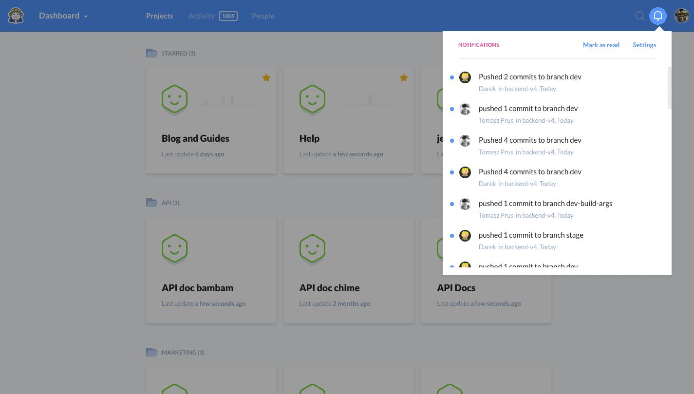 Ticker notifications in Buddy
