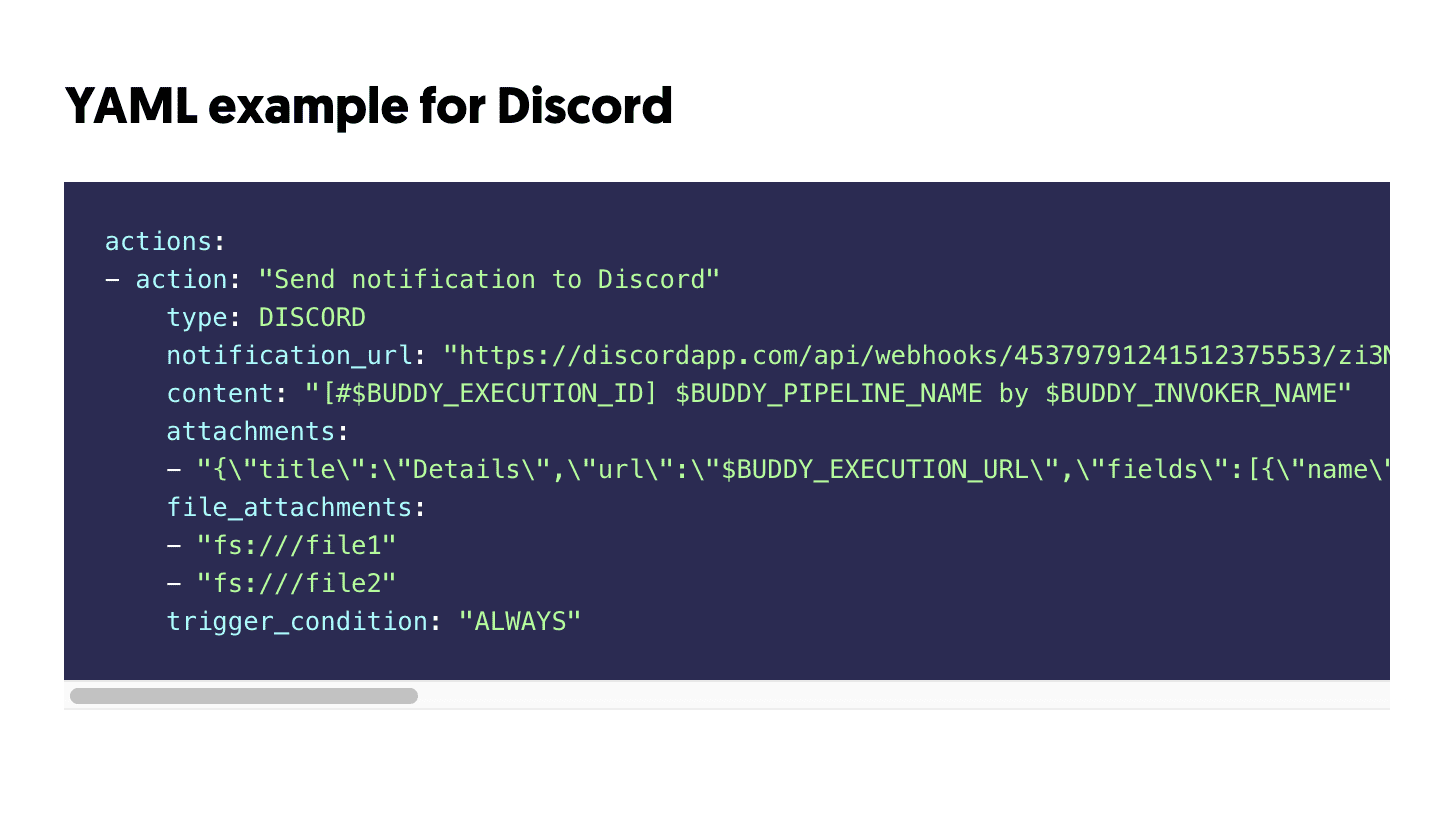Discord YAML preview