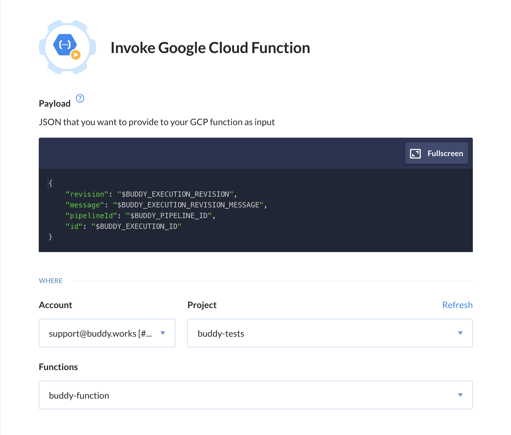 New feature: Deploy & Invoke Google Cloud Functions   Buddy: The