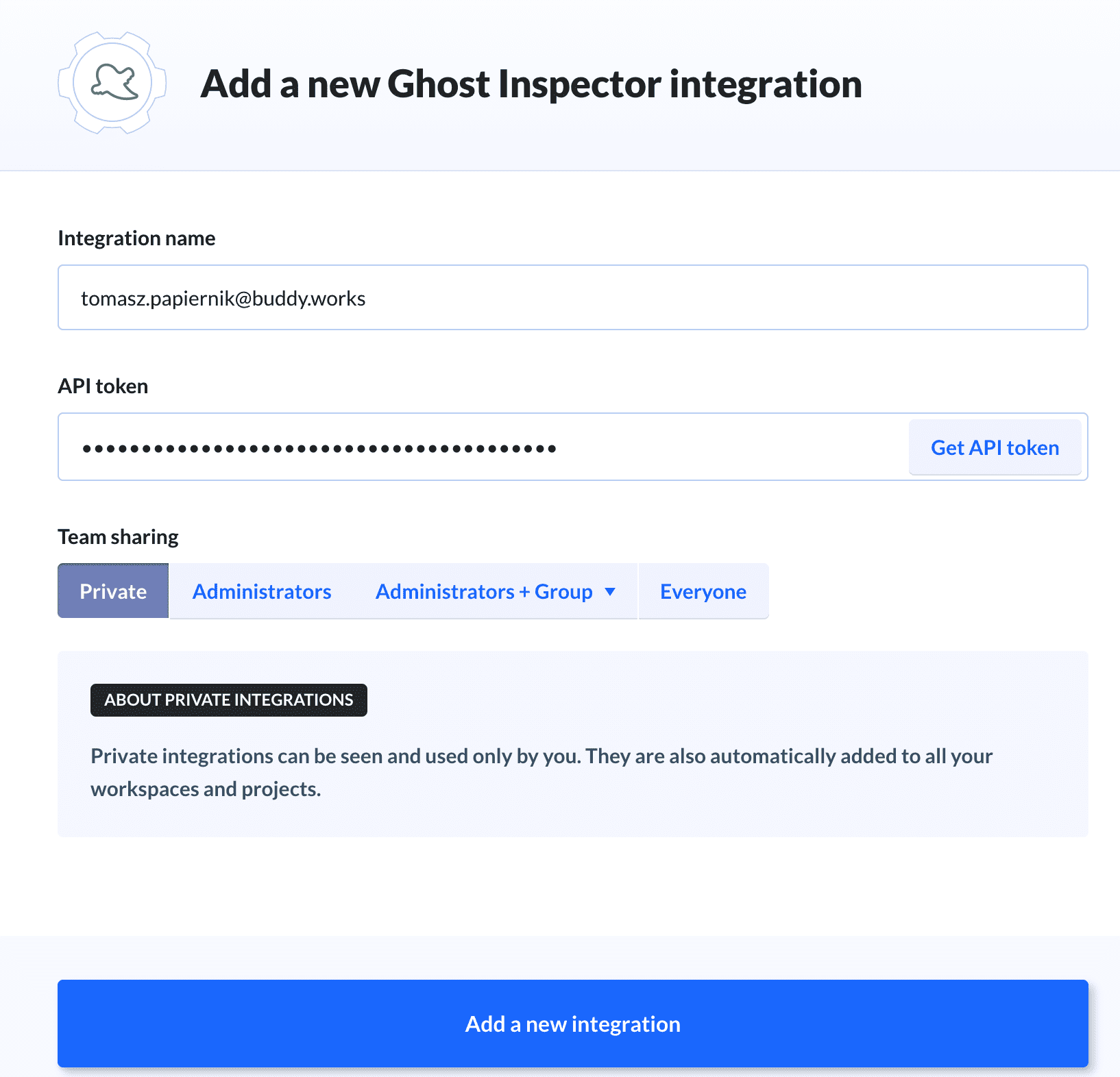 Adding Ghost Inspector integration