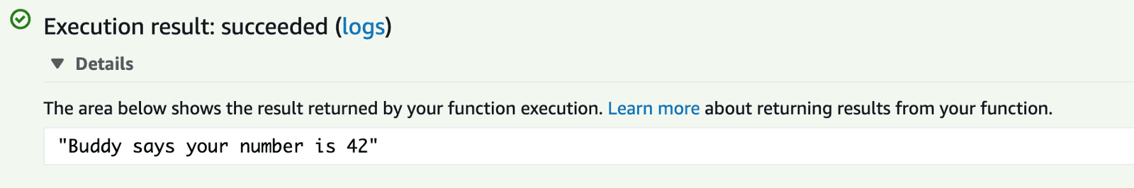 Execution succeeded