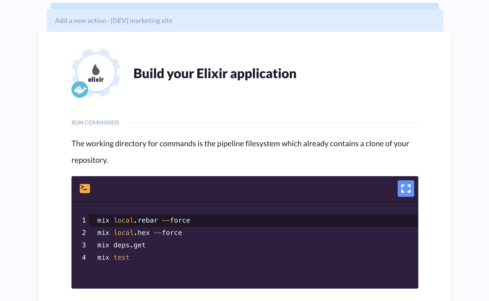 Elixir project details
