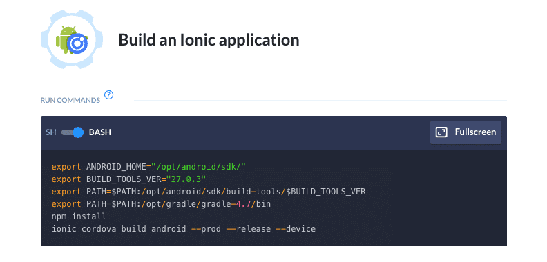 Introducing: Ionic builds for Android apps | Buddy: The DevOps