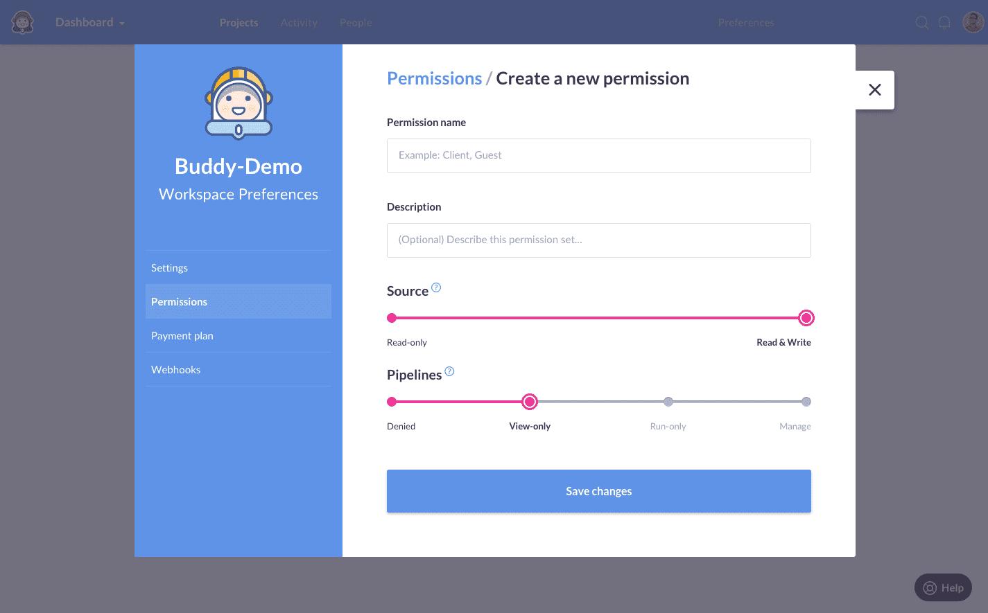 Custom permissons