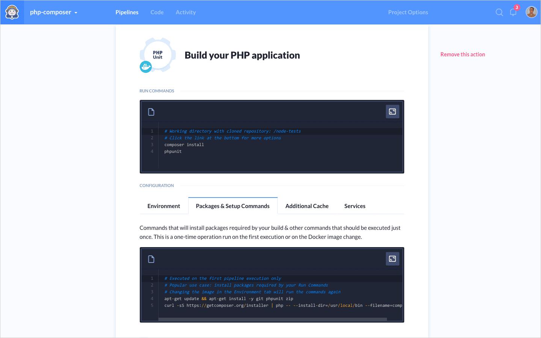 PHPUnit action details