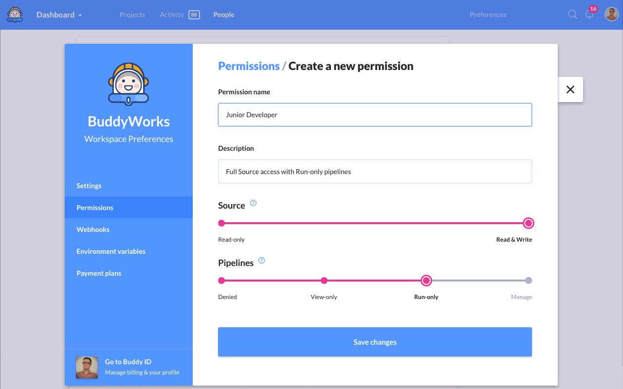 Setting custom permissions
