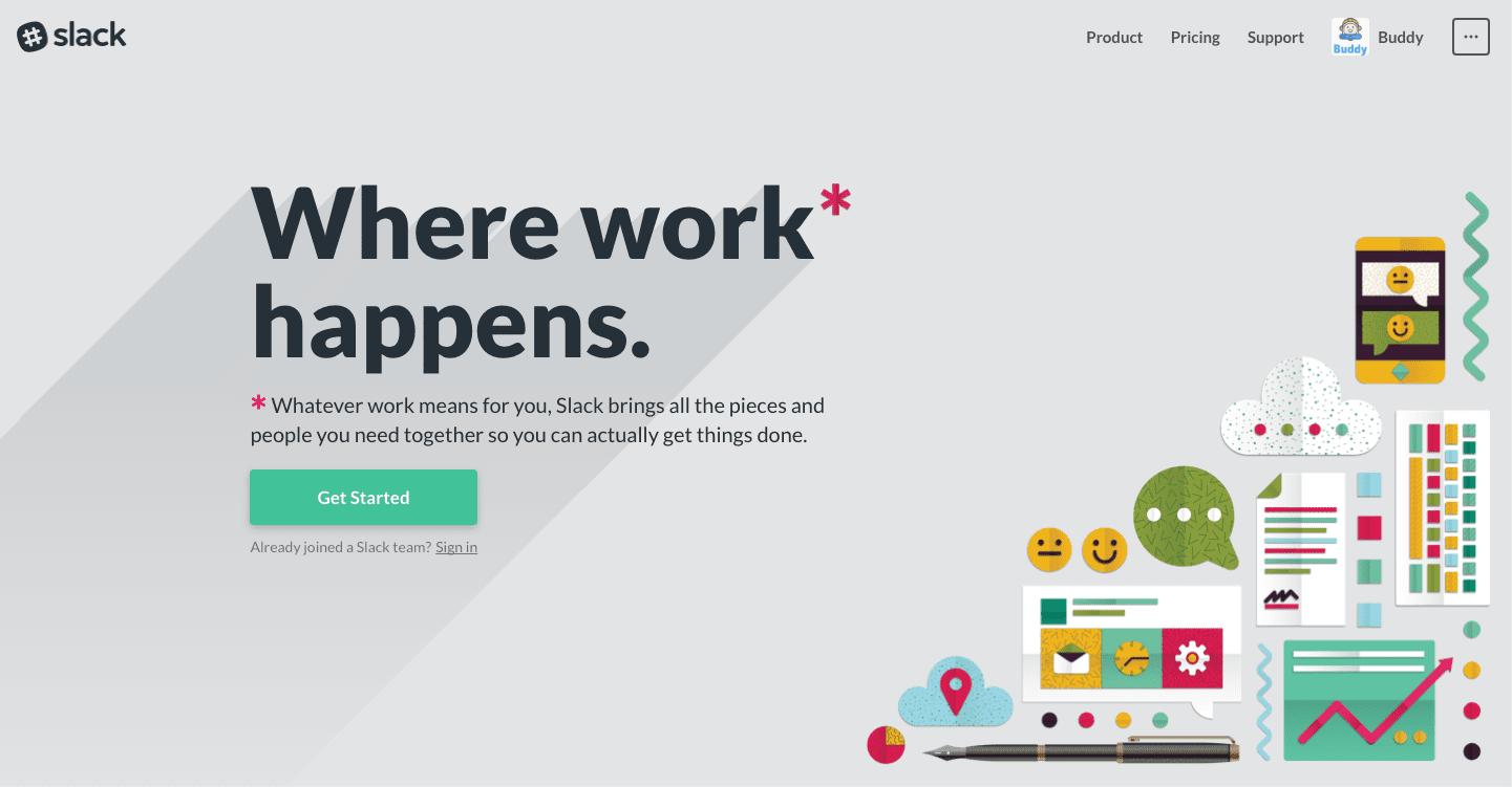 Slack website