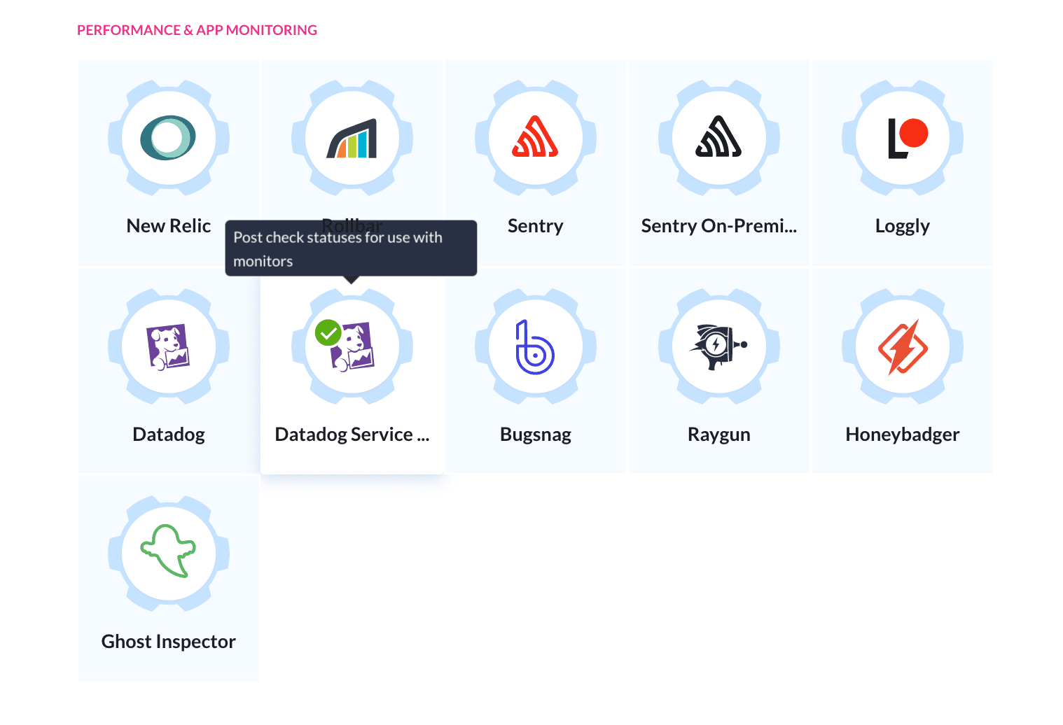 Datadog Service Check action