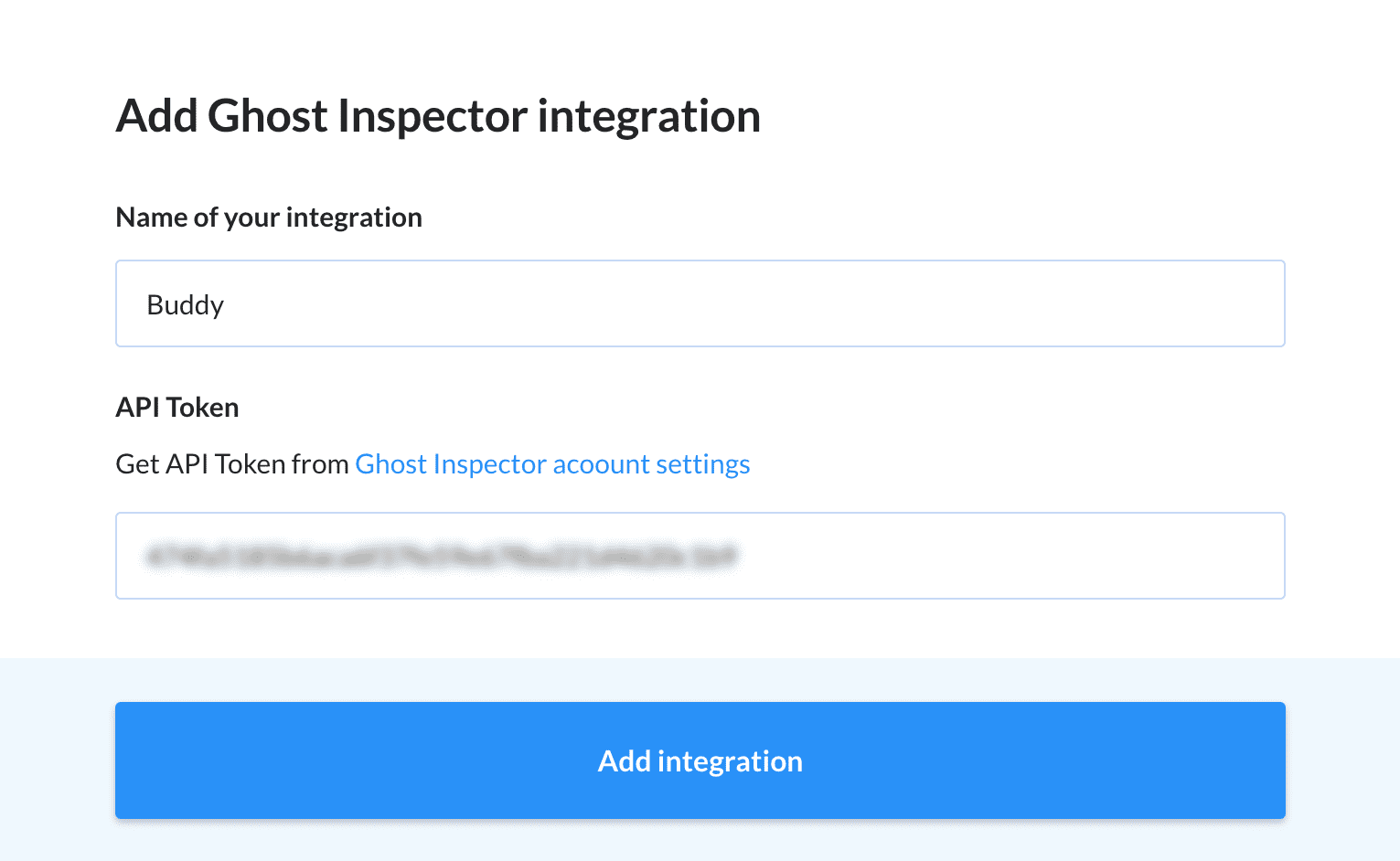 Adding a Ghost Inspector integration