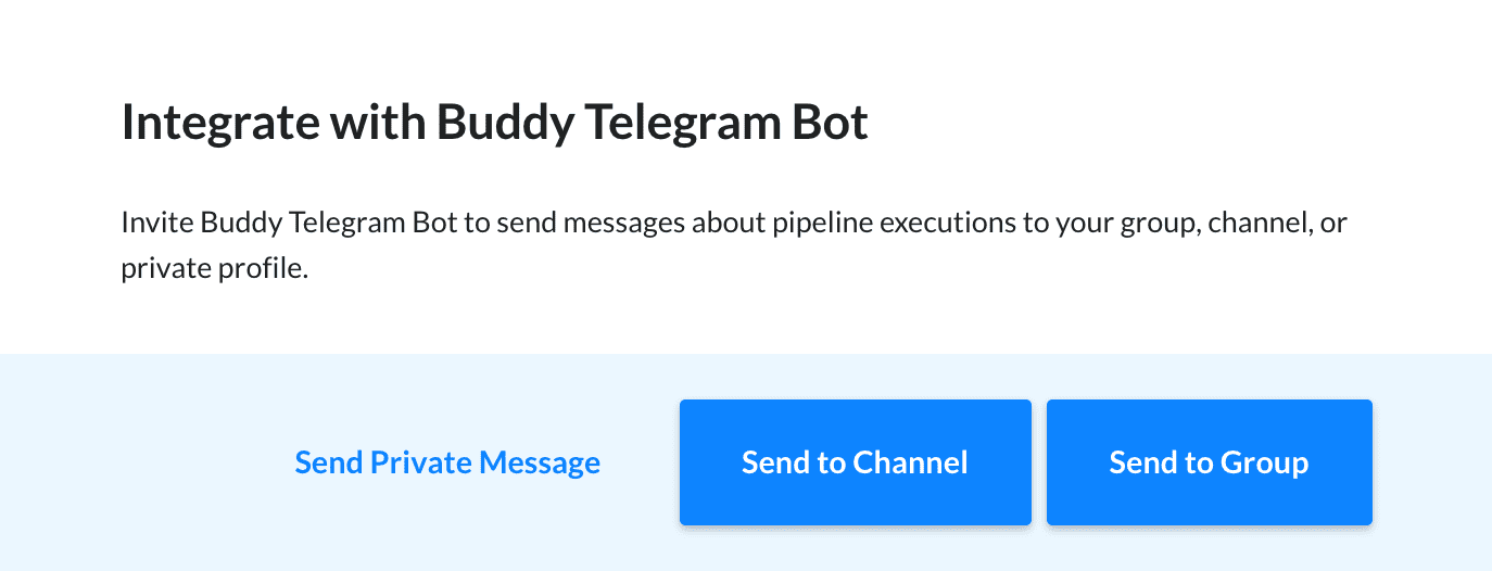 Telegram integration