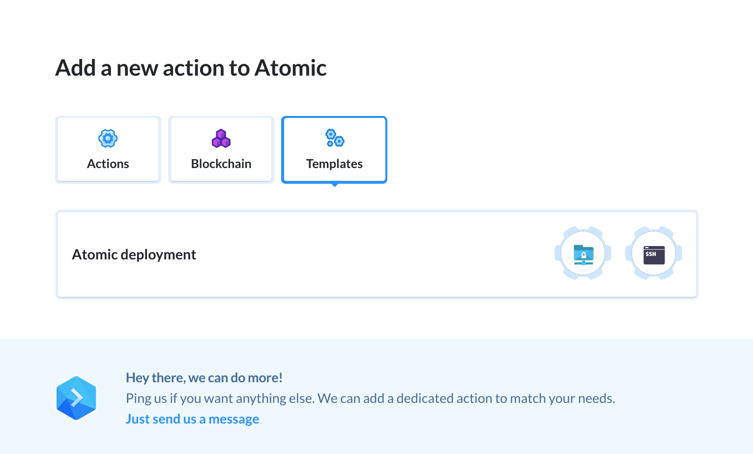 Atomic deployment template