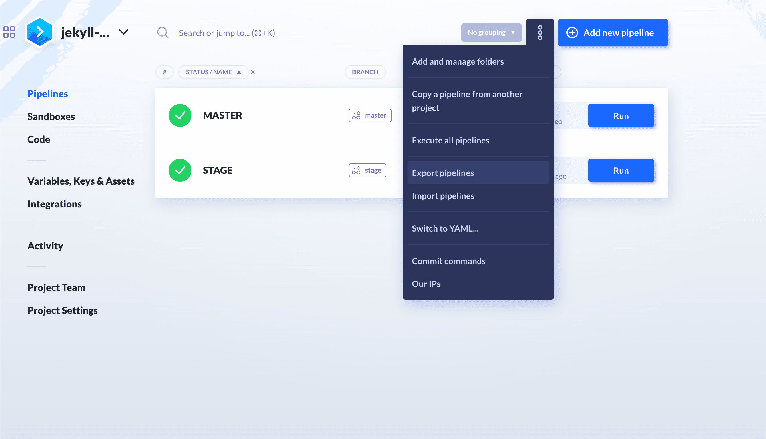 Importing the pipeline