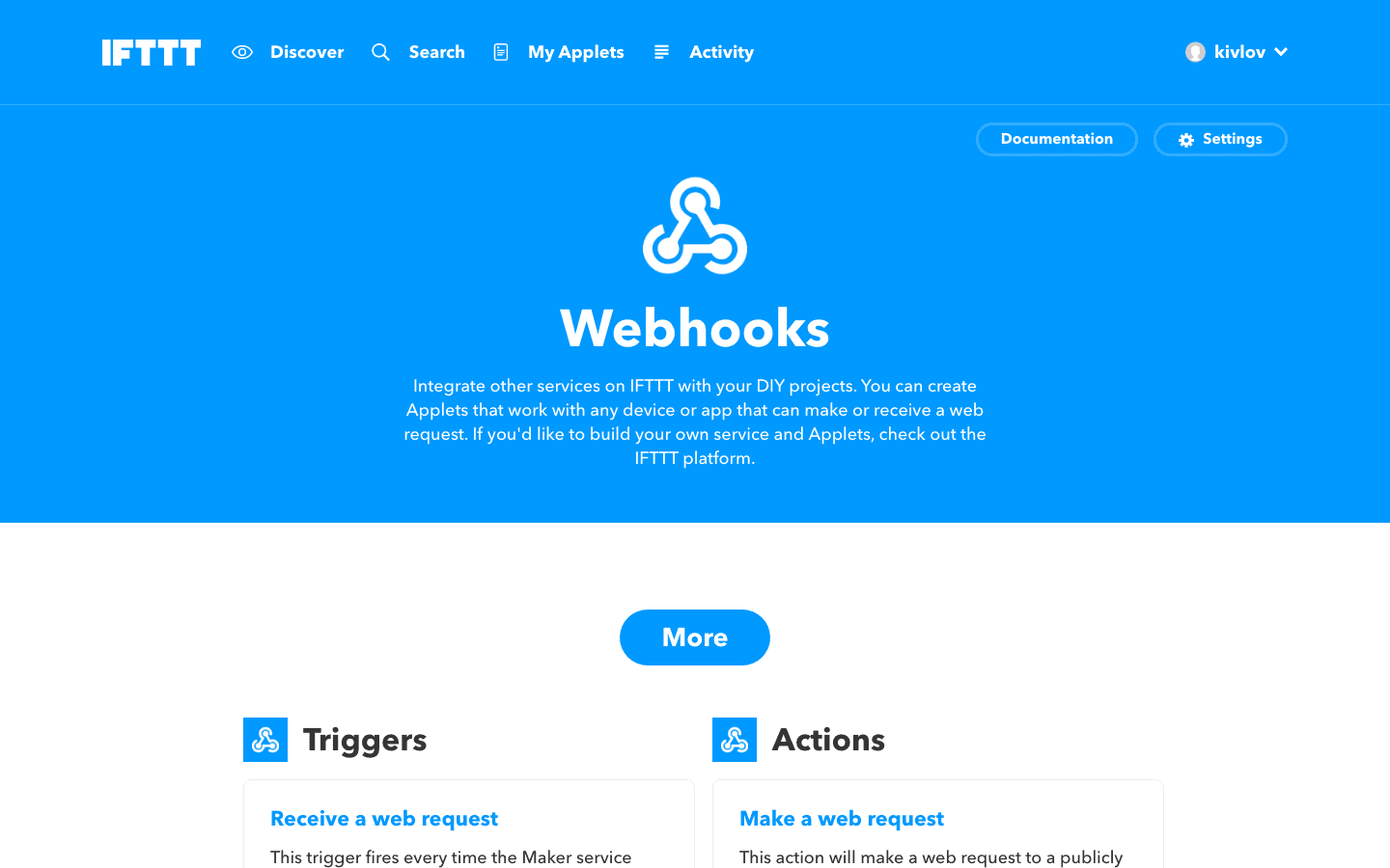 IFTTT webhook maker