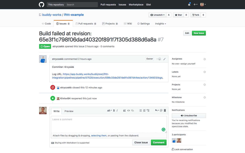 GitHub 'Issues' tab