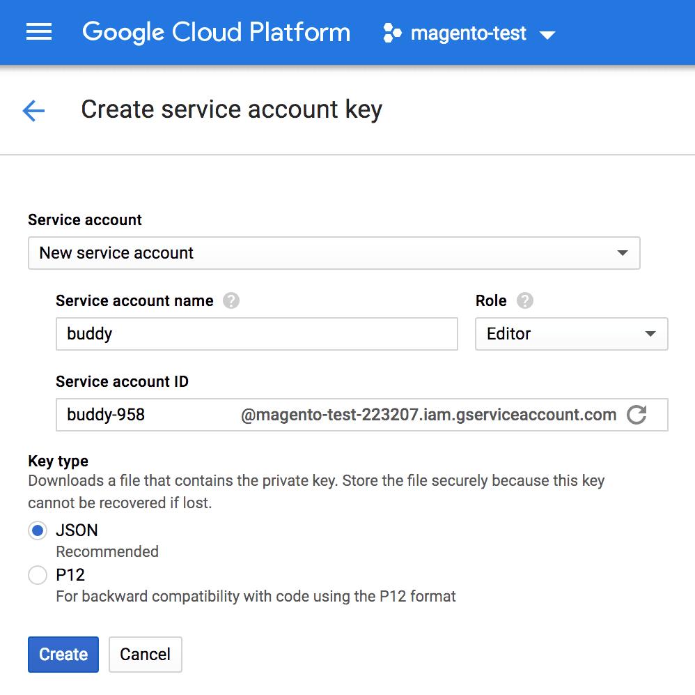 Google Cloud Platform account key