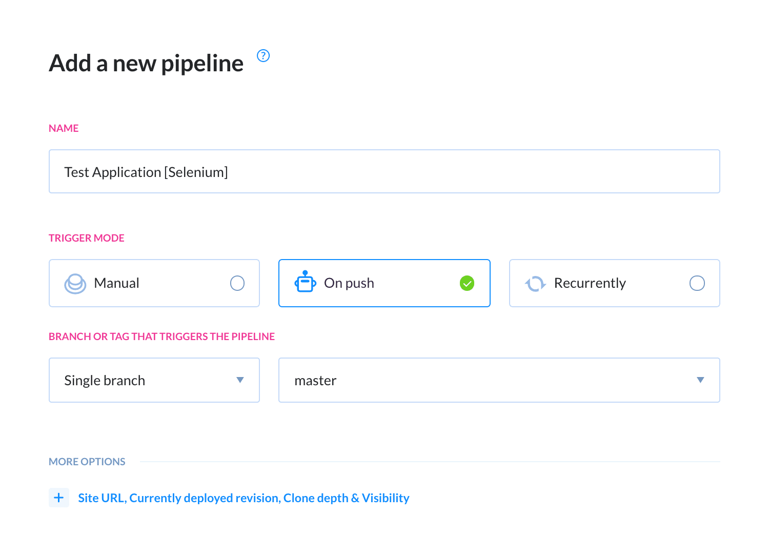Add a new pipeline