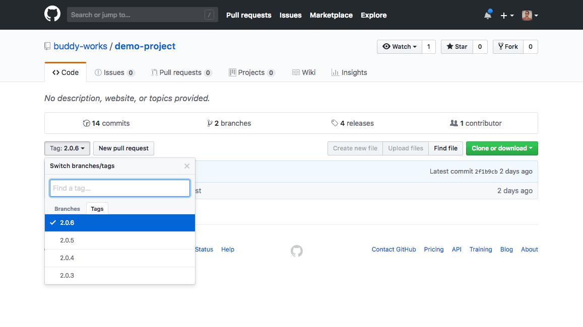 GitHub panel