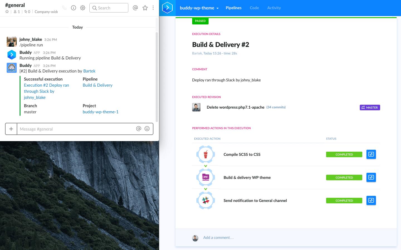 Running deployment from Slack