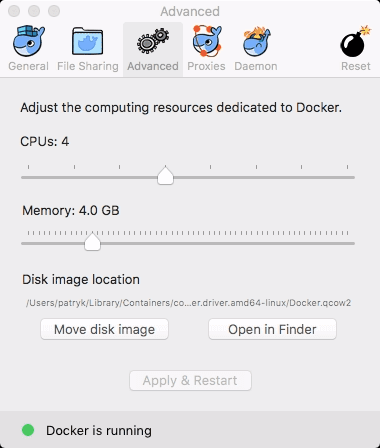 Docker installation