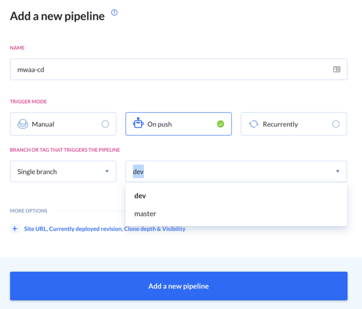 Building a CI/CD pipeline in Buddy — image by author