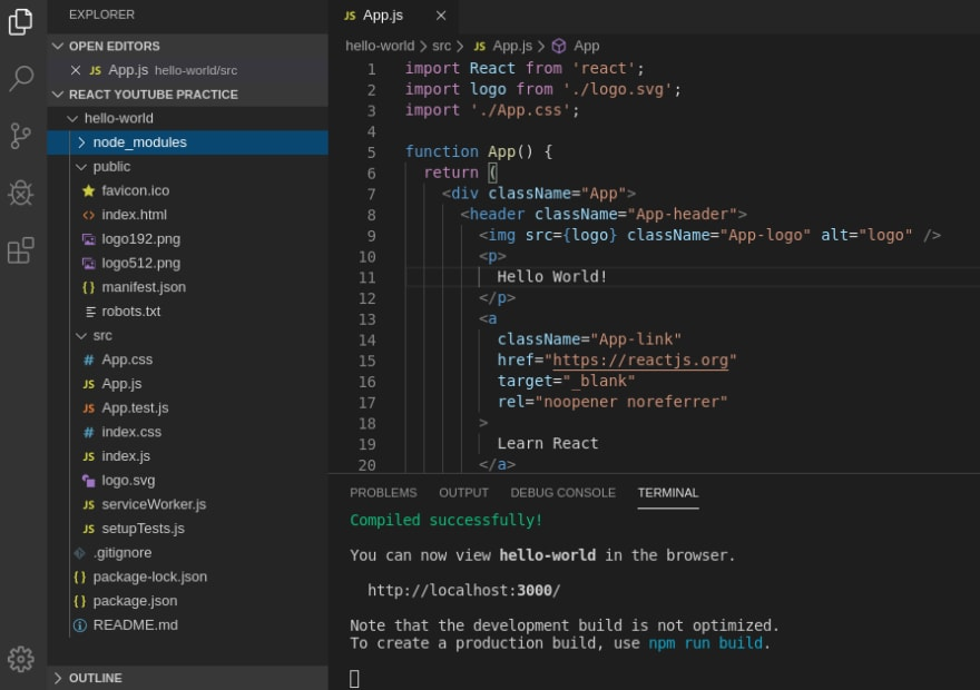 Create-React-App structure